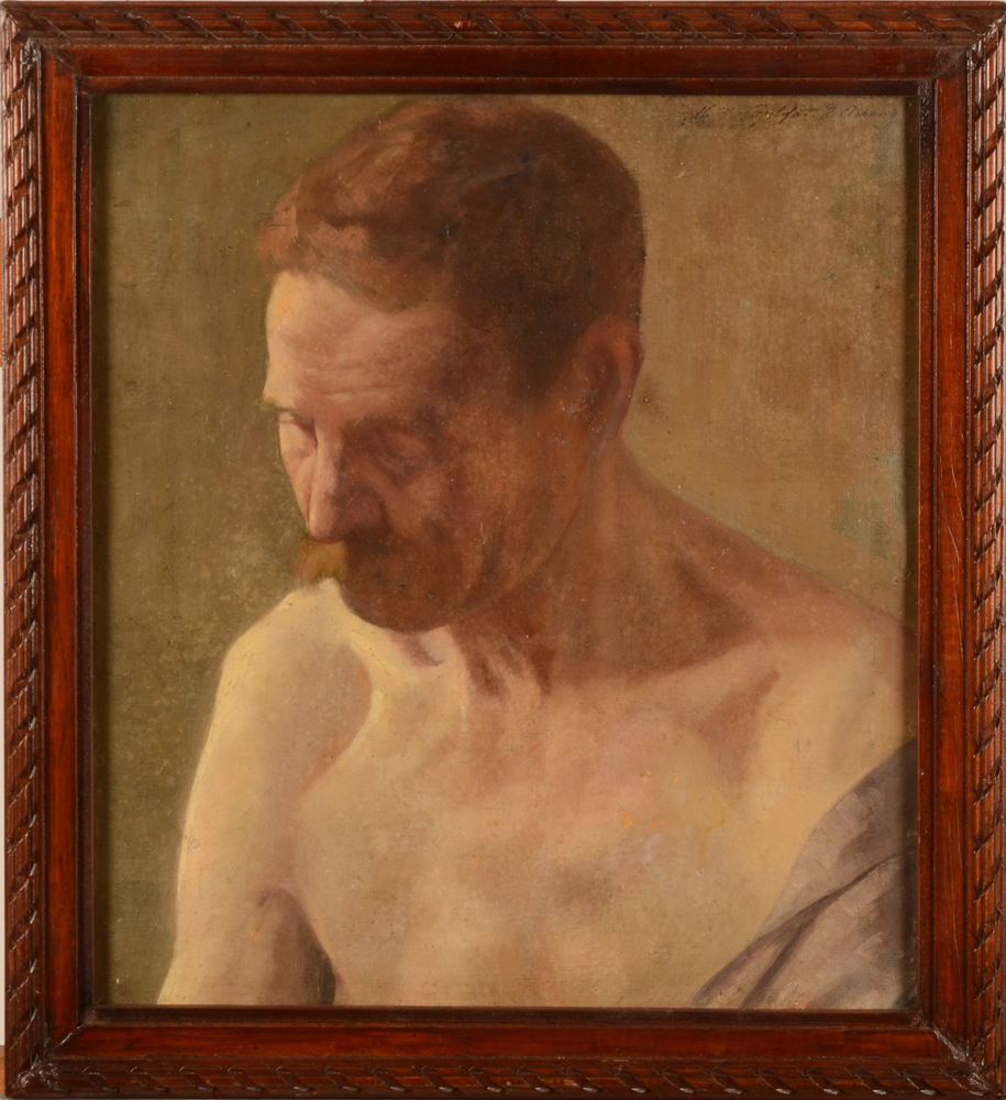Robert Aerens — The portrait in its wooden frame