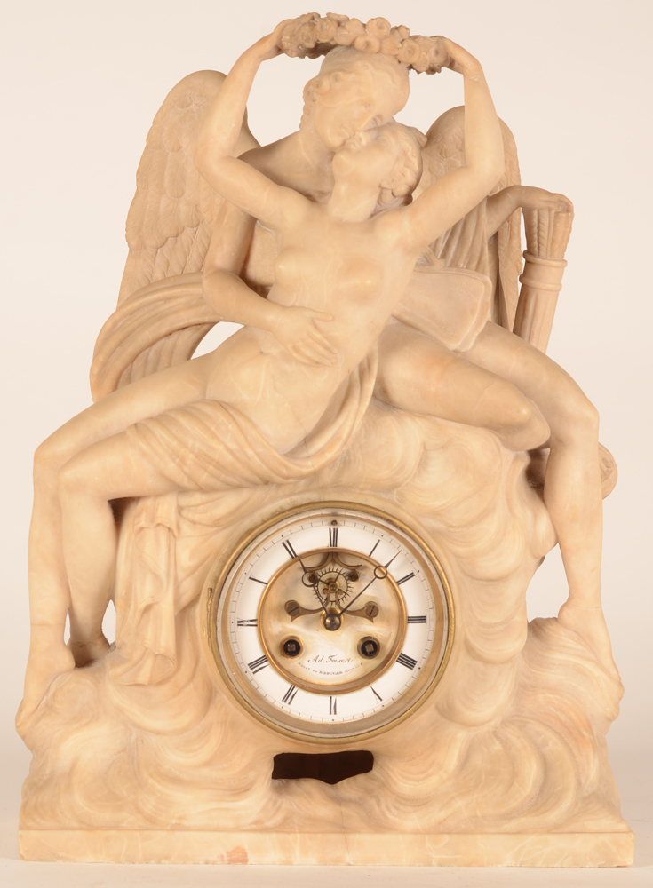 Alabaster Clock — Top part of the clock.