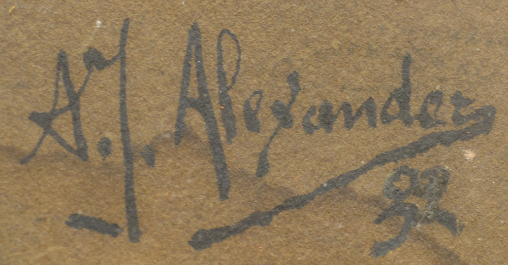 ?Alexander A.J. — Signature of the artist and date 1932