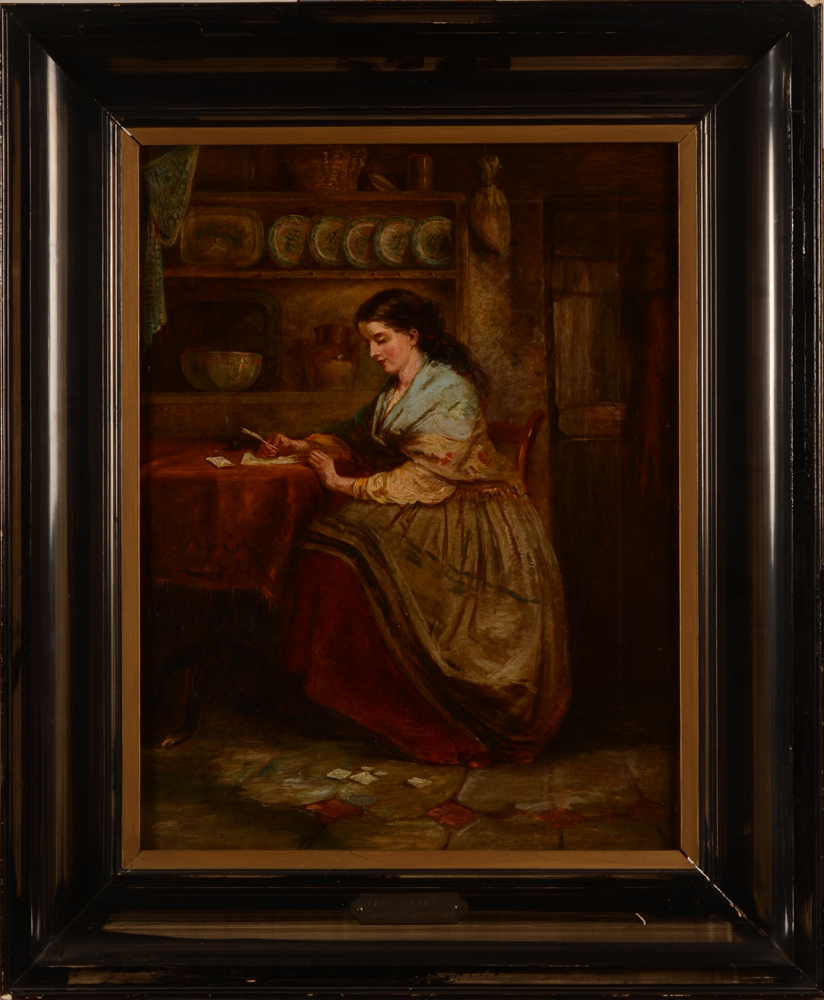 Luis Alvarez Catala, attributed to — The painting with its very worn (the original?) frame