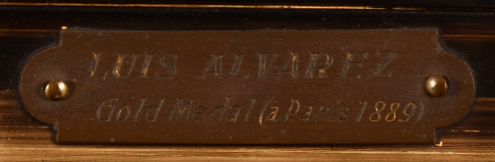 Luis Alvarez Catala, attributed to — Brass plaque on the frame