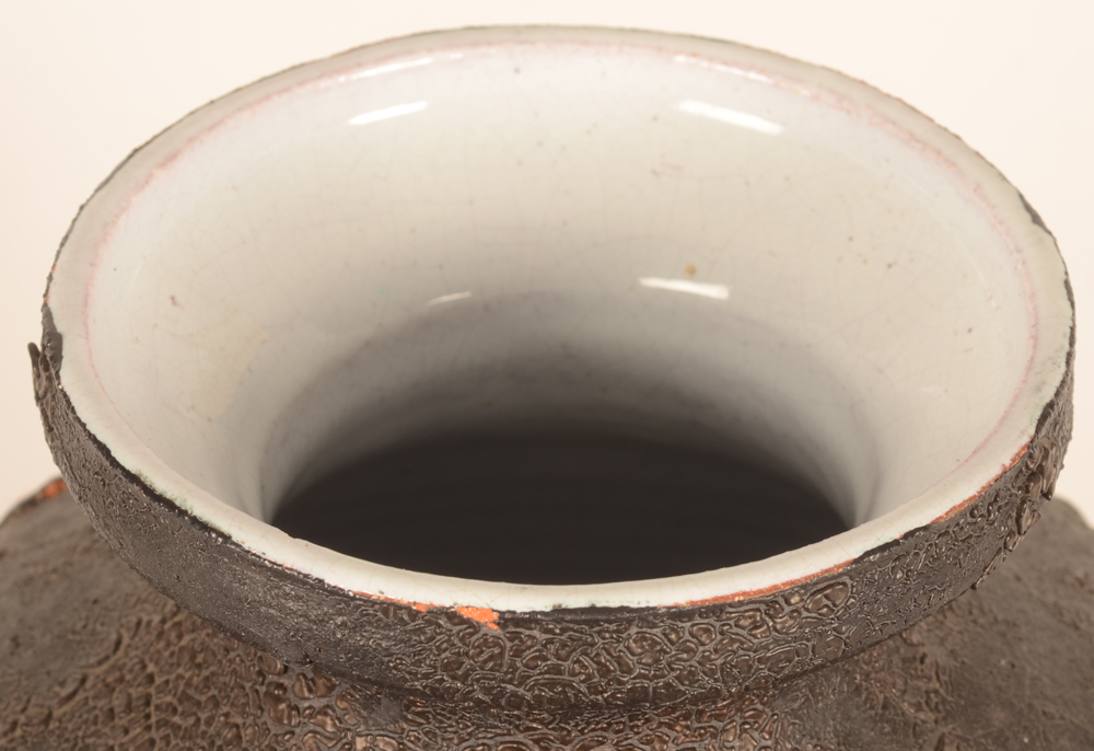 Rogier Vandeweghe — Top of the rim with two minute glaze chips of 3 mm
