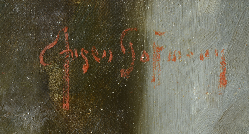 E. Hansen Hoffmann — Signature of the artist, top right of the canvas.