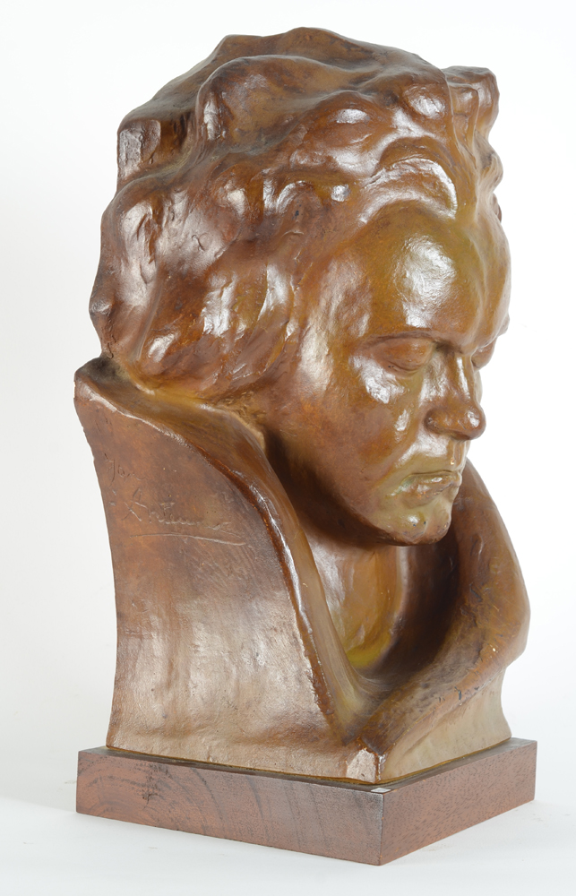 Jan Anteunis — Side view of this portrait of a mature Beethoven.