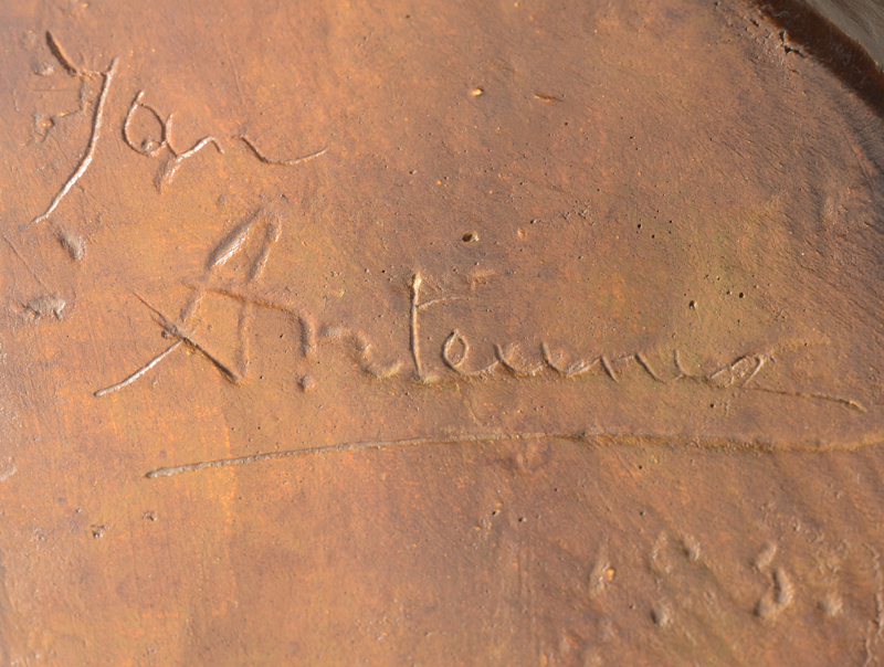 Jan Anteunis — Detail of the siganture on the side, with almost illegible date 193?