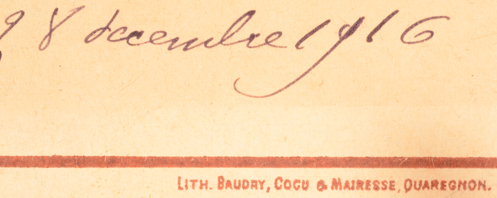 Anto Carte — <p>Detail of the printer and with the date 28/12/1916</p>