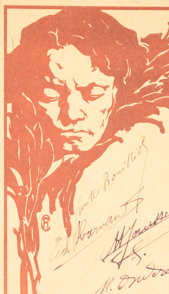 Anto Carte — <p>Detail of the Beethoven image with the monogram of the artist</p>