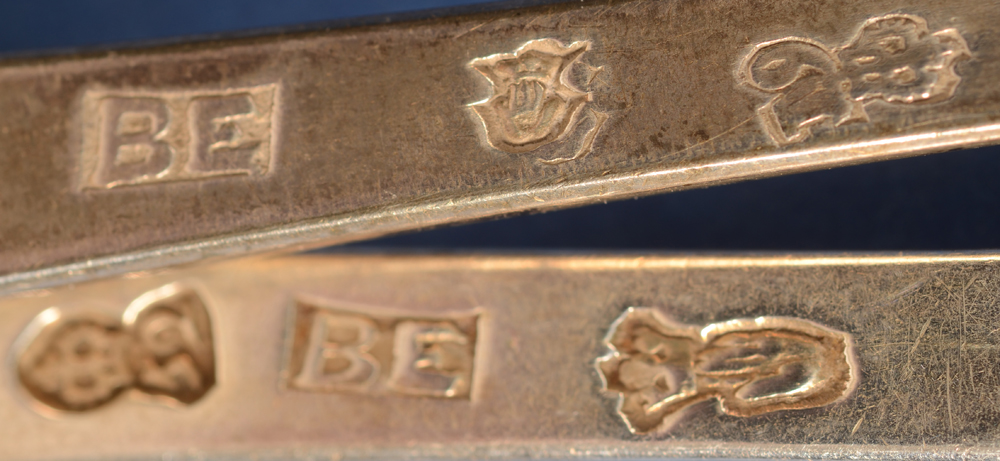 Antwerp Silversmith BE — Marks of both of the pieces