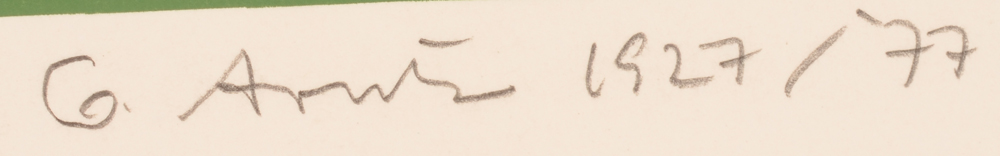 Gerd Arntz — Signature of the artist and date in pencil, bottom right