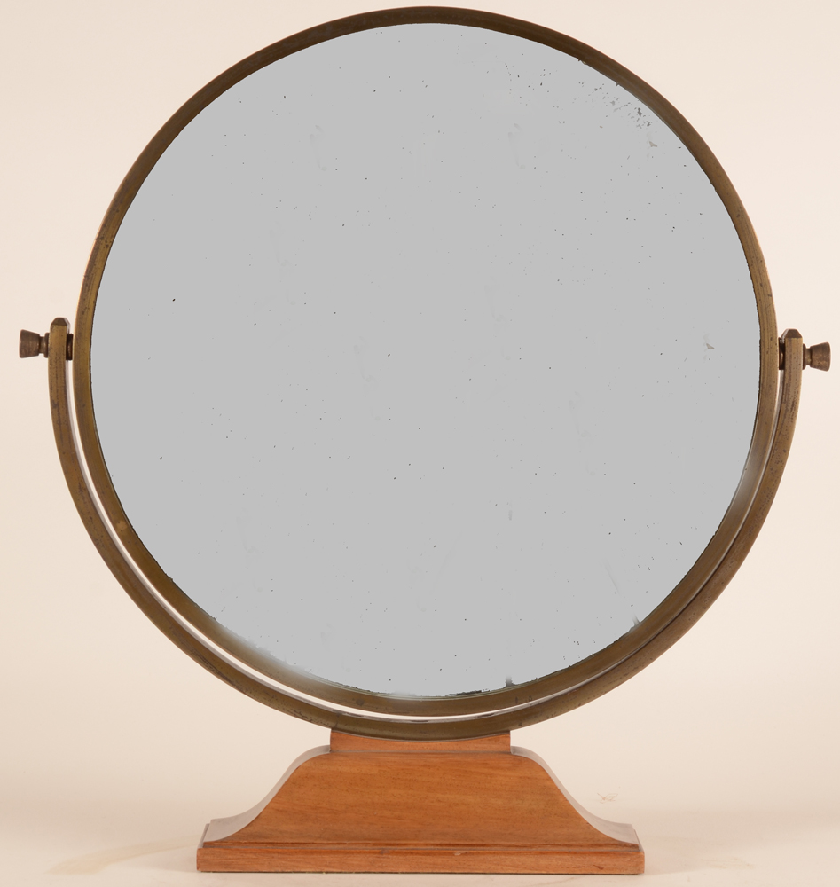 Art Deco Table Mirror — Frontal view (mirror obscured)