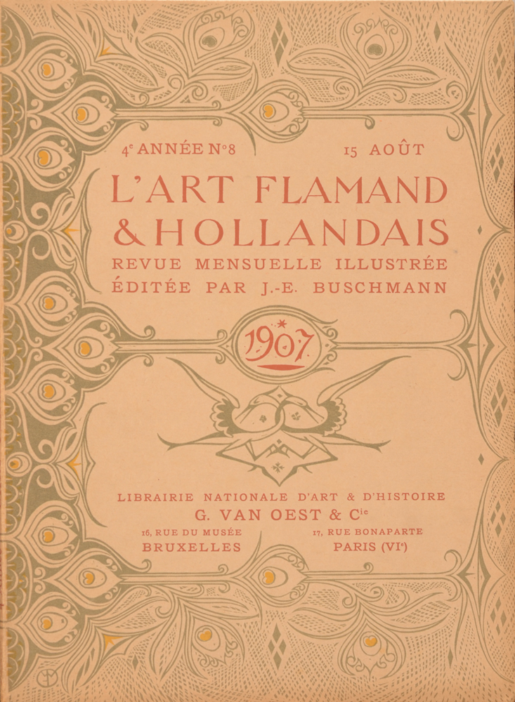 Art Flamand et Hollandais 1907 — August cover