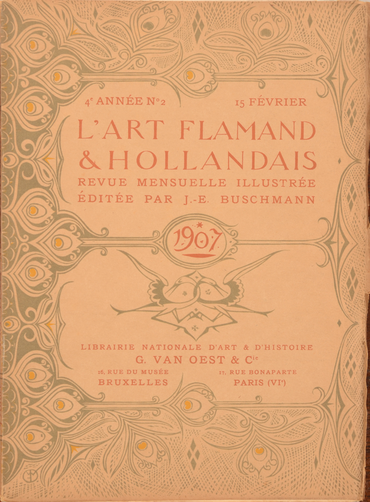 Art Flamand et Hollandais 1907 — February issue cover<br>