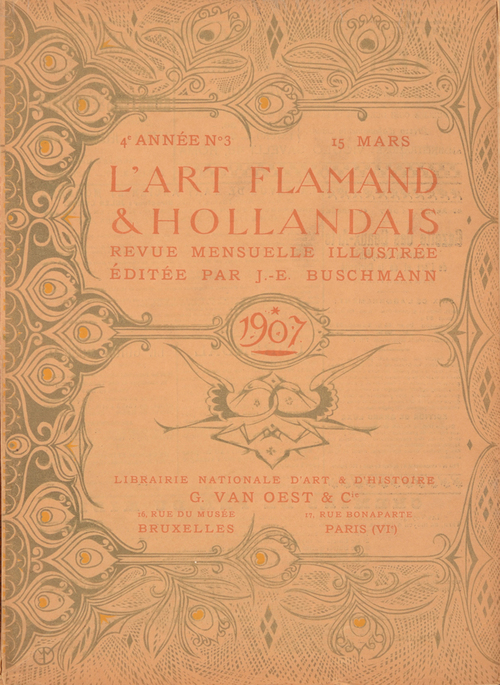Art Flamand et Hollandais 1907 — cover March issue