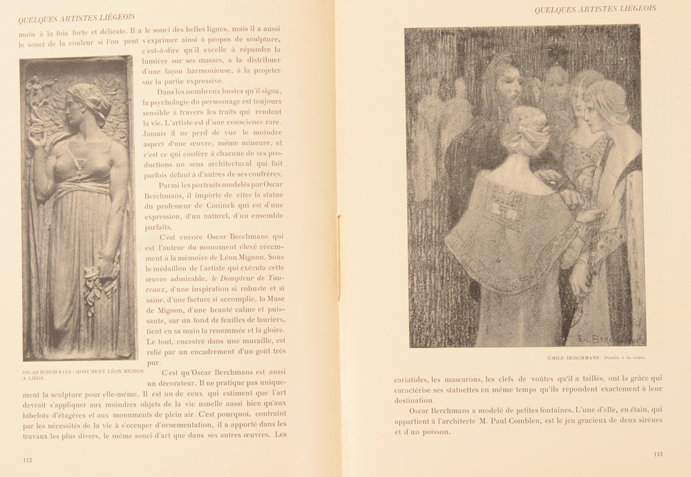 Art Flamand et Hollandais 1907 — Article on Emile (and Oscar) Berchmans