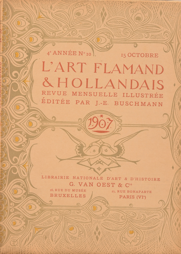 Art Flamand et Hollandais 1907 — October cover