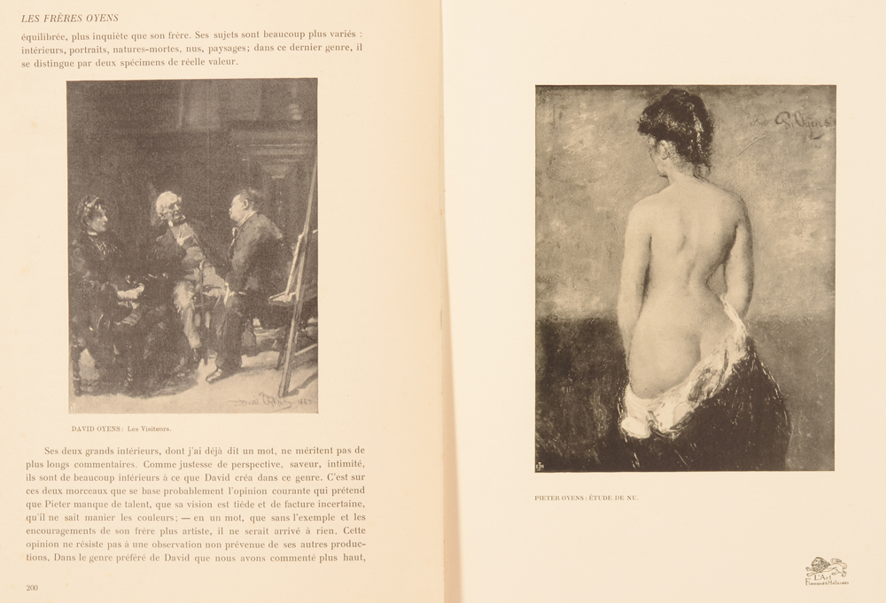 Art Flamand et Hollandais 1908 — Article on the Oyens brothers in French