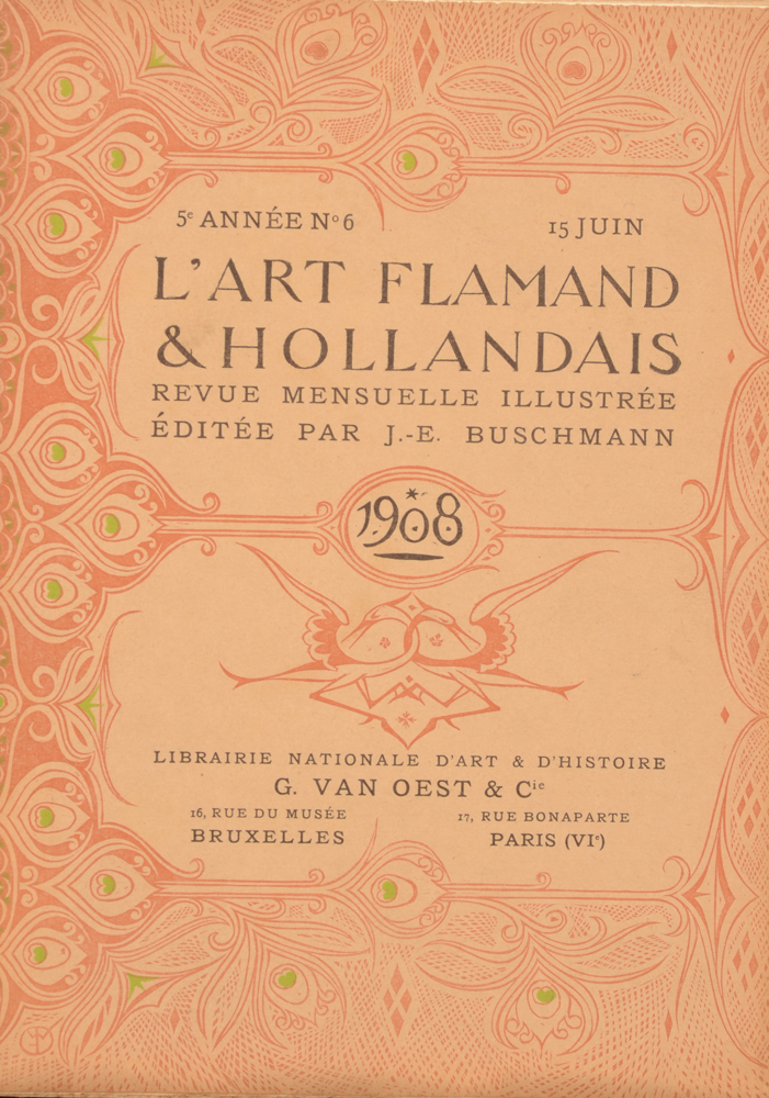 Art Flamand et Hollandais 1908 — June issue in French