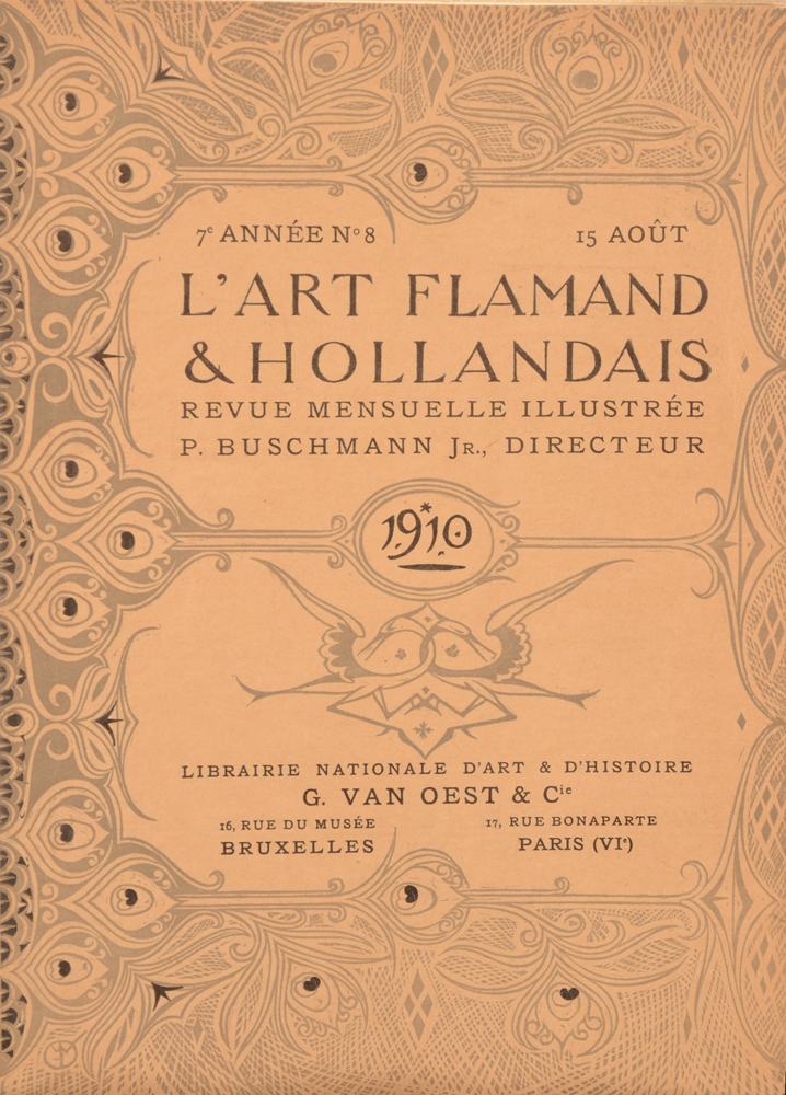 Art Flamand et Hollandais 1910 — August cover (French)