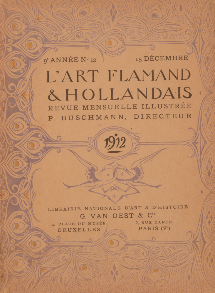 Art Flamand et Hollandais 1912 — Cover December issue
