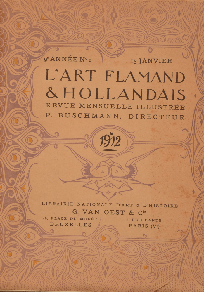 Art Flamand et Hollandais 1912 — January issue title page