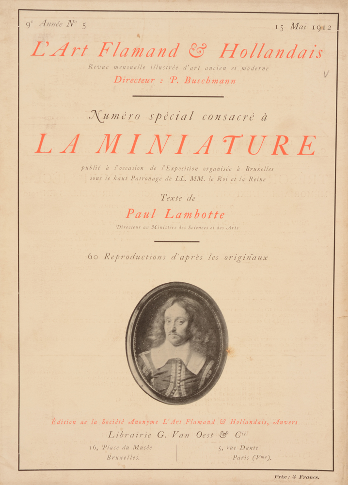 Art Flamand et Hollandais 1912 — Special May issue on miniatures