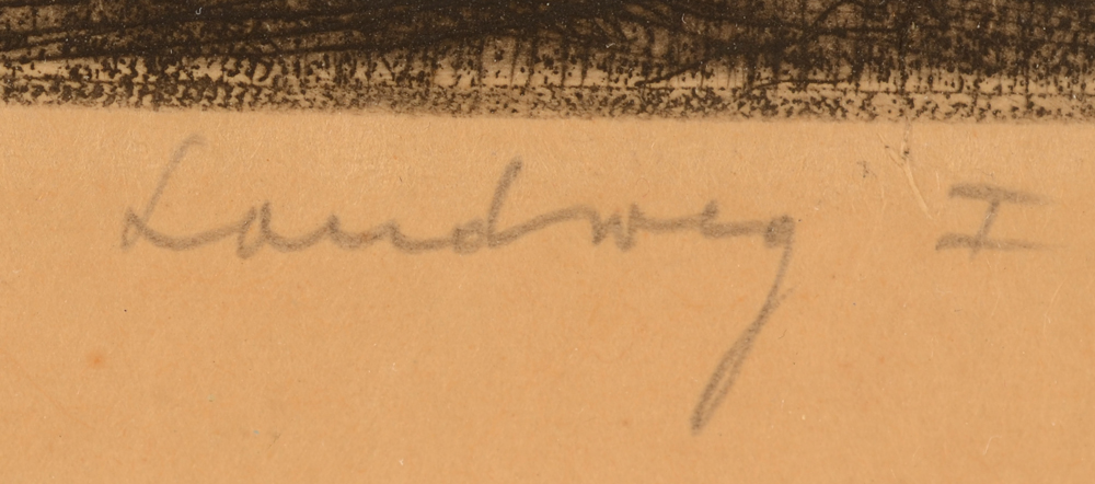 Dirk Baksteen — title of the work, in pencil, by the artist