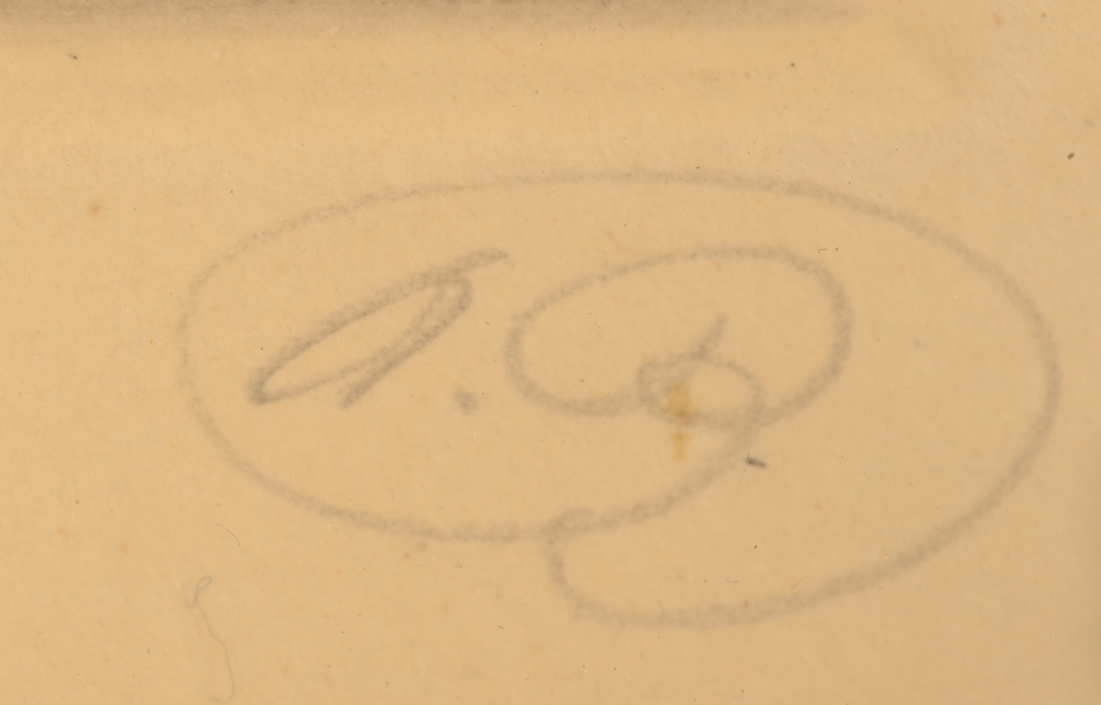 Alfred Bastien — Monogram signature in pencil, bottom right
