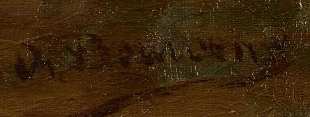 Oreste Bauwens — Signature of the artist, bottom right