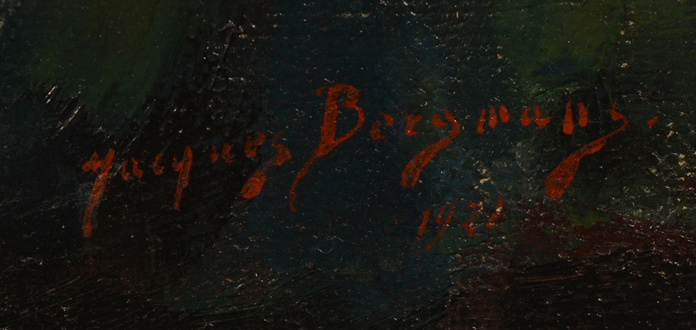 Jacques Bergmans — Signature of the artist bottom right and date 1921