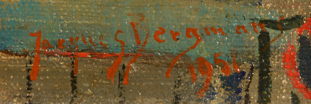 Jacques Bergmans — Signature of the artist and date, bottom right