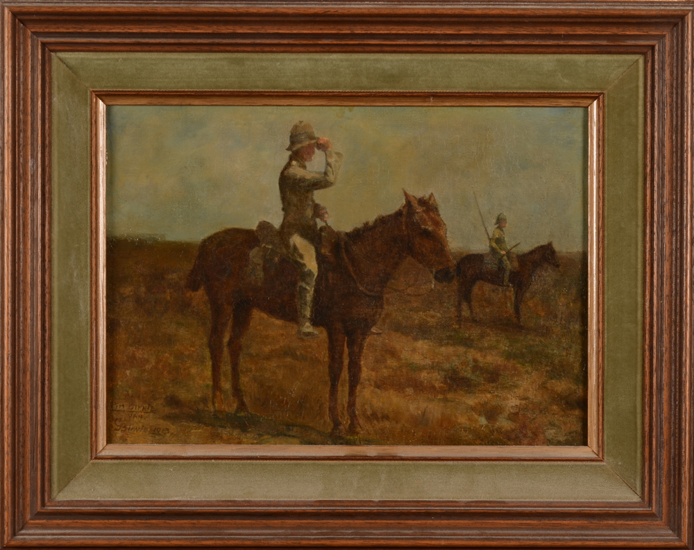 George Bernie — Cavalry officer in Indonesia in 1913, a rare documentary painting