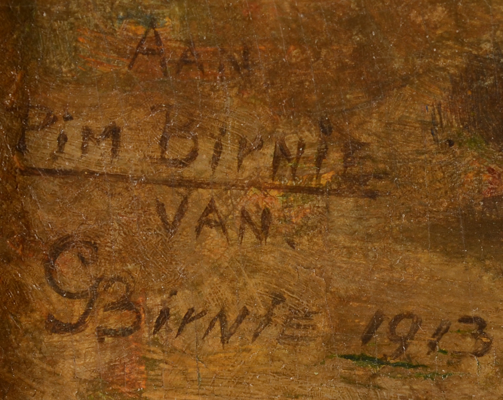 George Bernie — Signature, dedication and date by the artist, bottom left