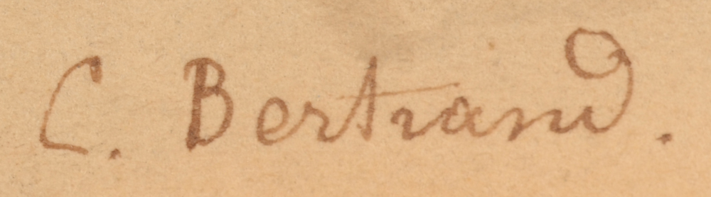 Charlotte Bertrand — Signature of the artist, bottom left
