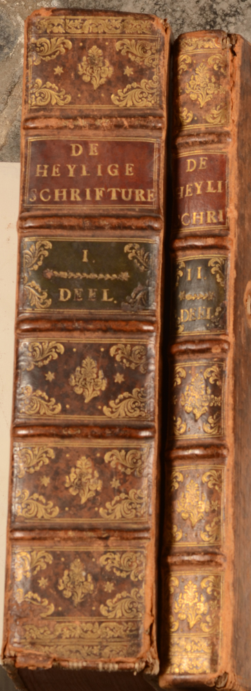 Biblia Sacra — Detail of both spines