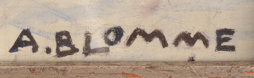 Alfons Blomme — Signature of the artist, bottom right.