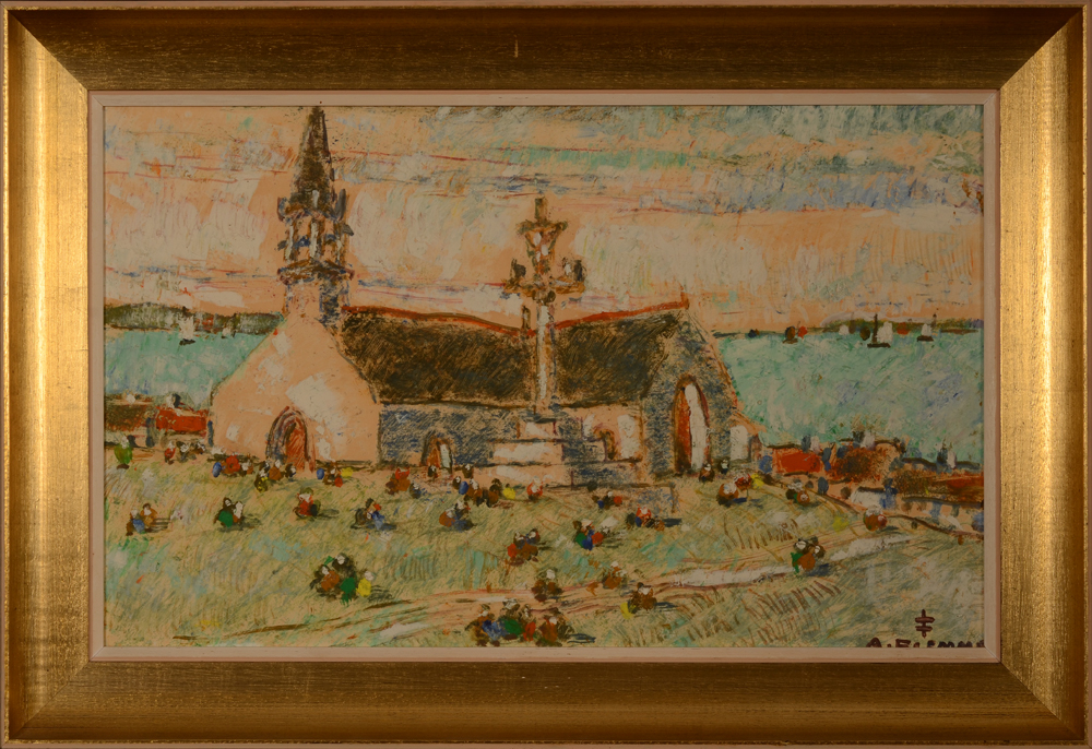 Alfons Blomme Church in Brittanny — With its frame