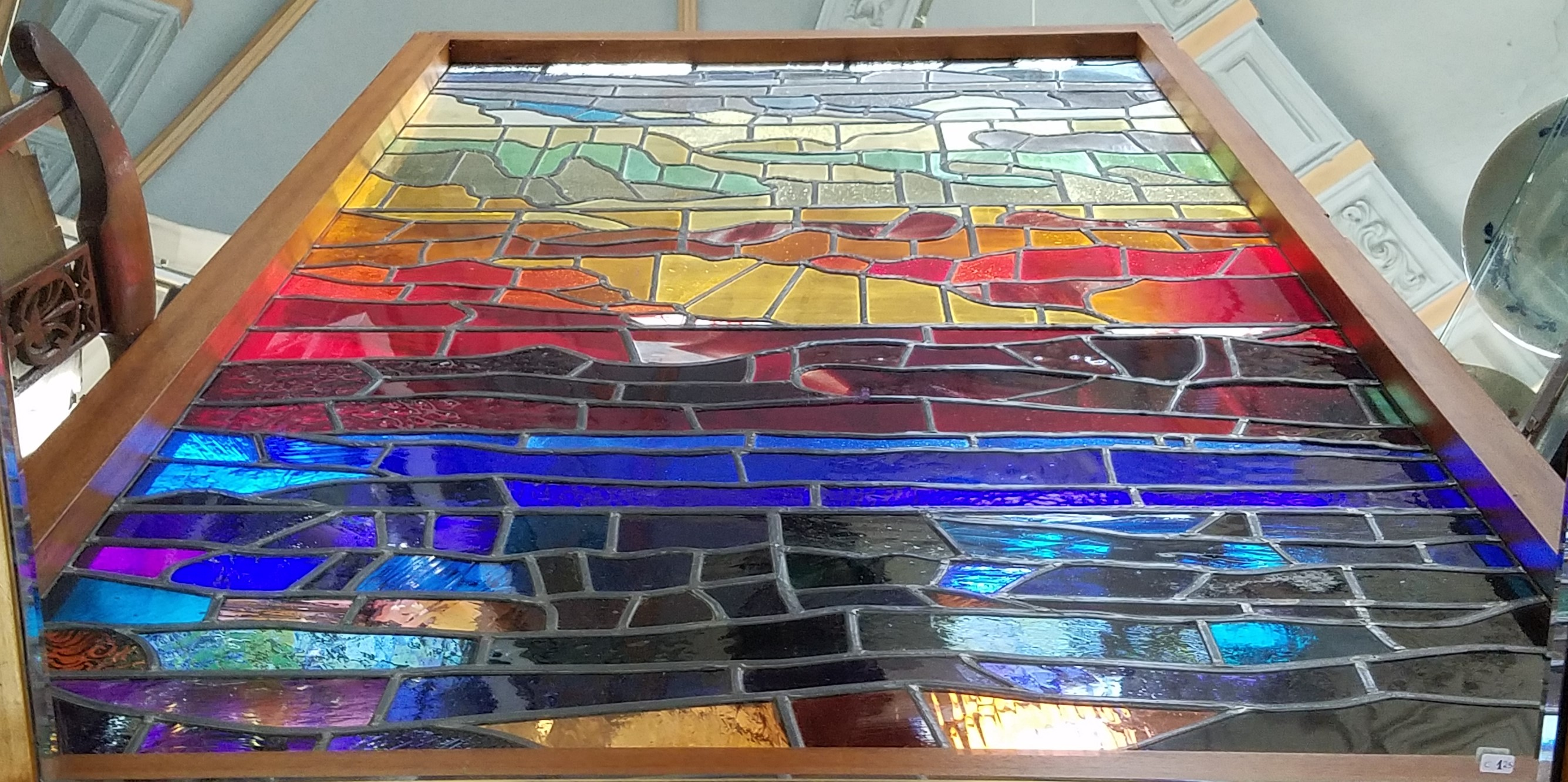 Armand Blondeel Leaded Glass Window