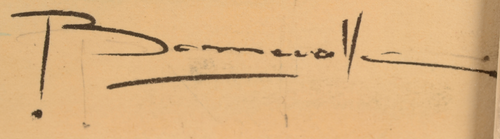 Oscar Bonnevalle — Signature of the artist, bottom right