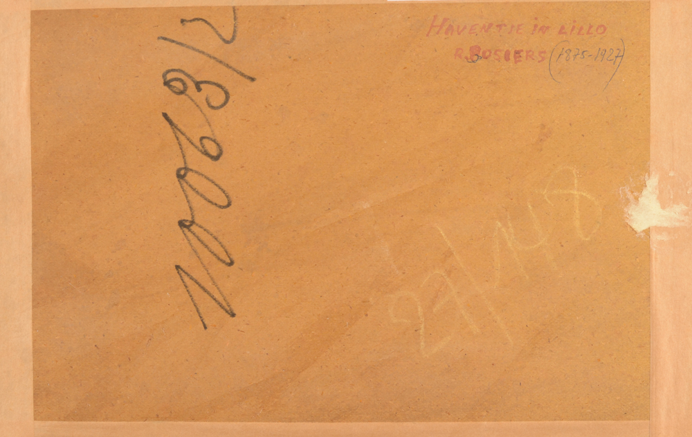 Rene Bosiers — Back of the painting with the title of the work