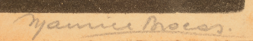 Maurice Brocas — Signature of the artist in pencil, bottom right