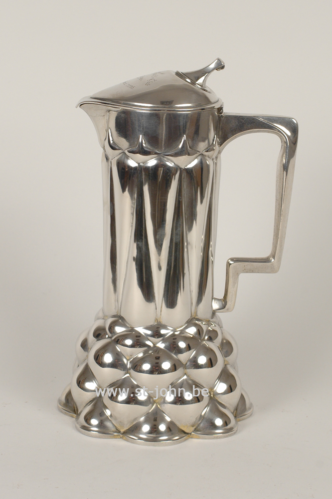 Bruckmann — <p>a typical Rudolph Rochga Jugendstil ewer in silver</p>