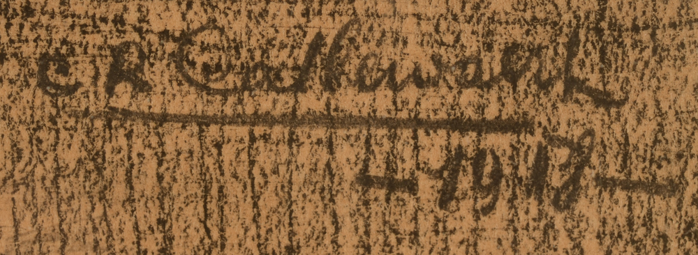 Charles-René Callewaert — Signature of the artist and date, top right