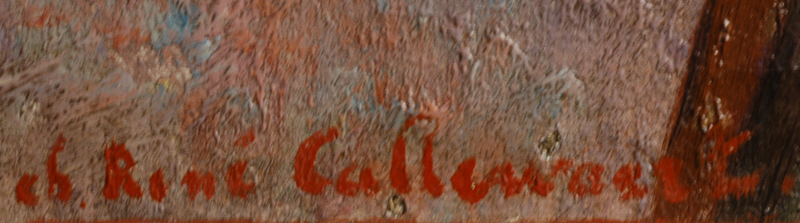 Ch-R Callewaert — Signature of the artist,bottom left of the painting.