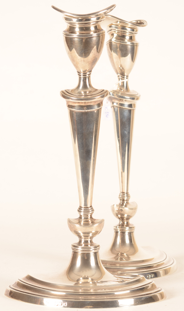 Thomas Bradbury and Sons — Alternate view of the silver candlesticks