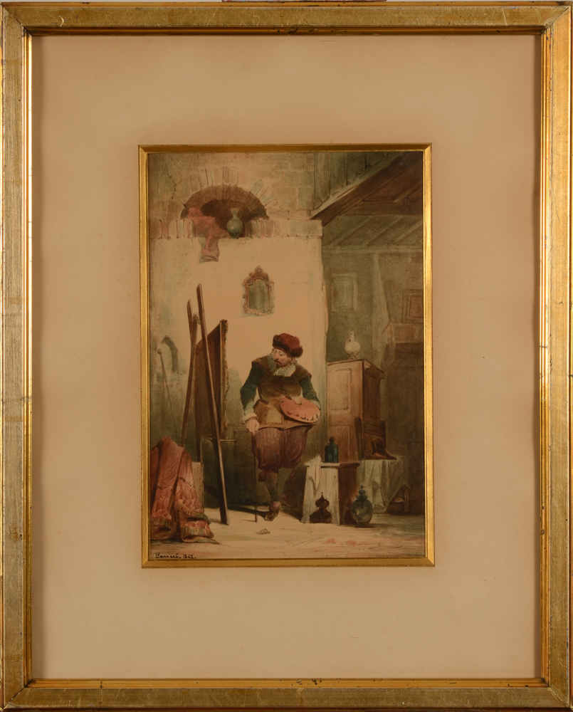 Theodore Canneel — The watercolour in its 19th century frame