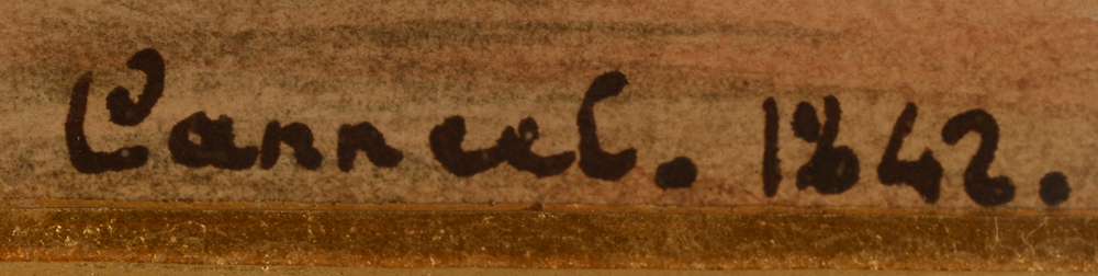 Theodore Canneel — Signature of the artist and date at the front, bottom left