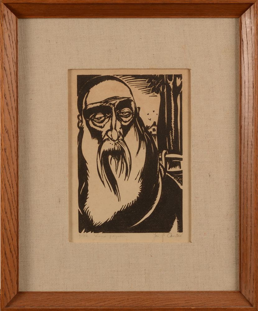 Jan-Frans Cantré — The woodcut in its later frame