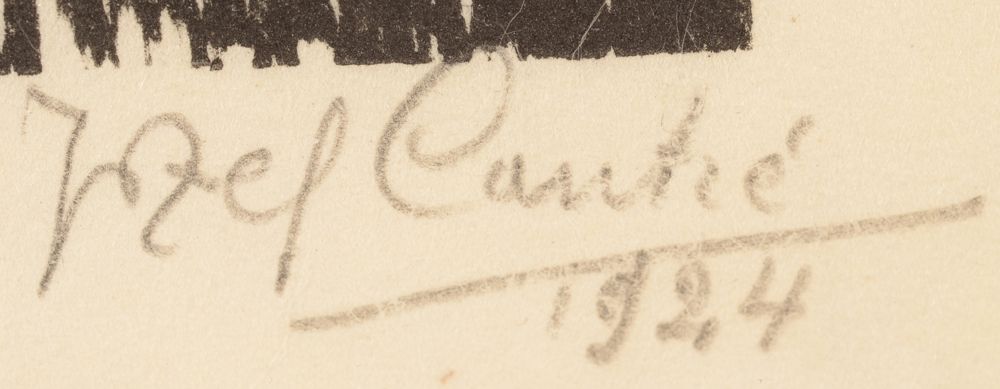 Jozef Cantre — Signature of the artist and date 1924 bottom right