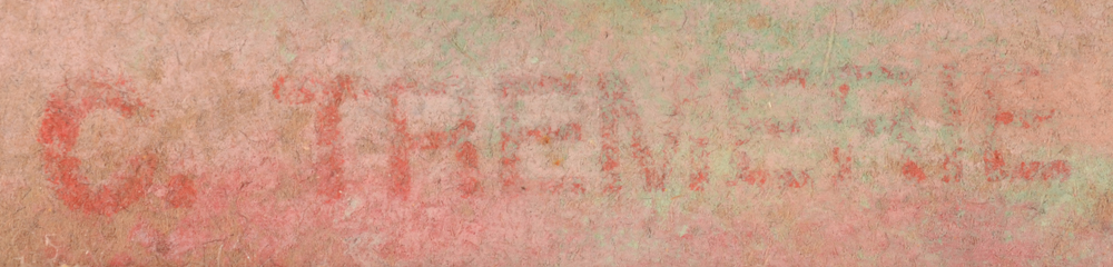 Carolus Tremerie — Detail of the signature stamp on the pastel drawing, bottom left.