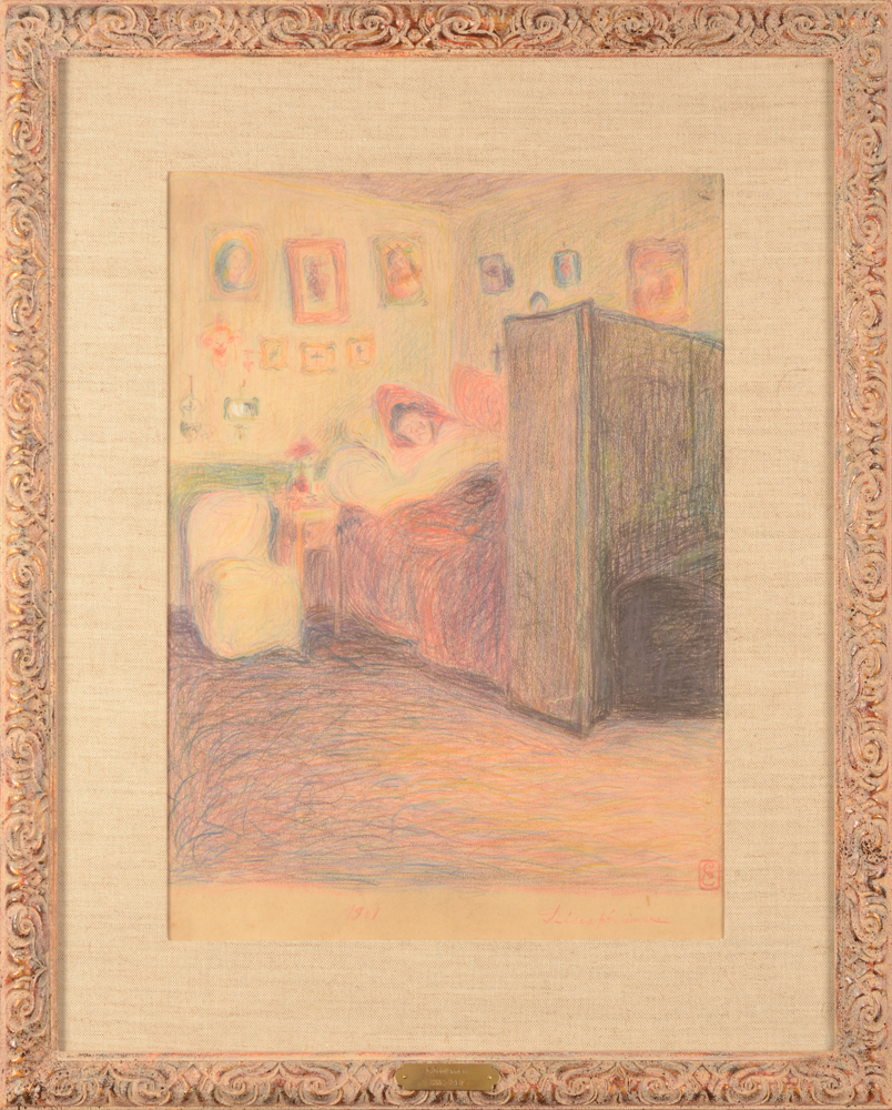 Cecile Cauterman — the drawing in its modern frame